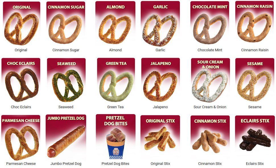 Auntie Anne's selection
