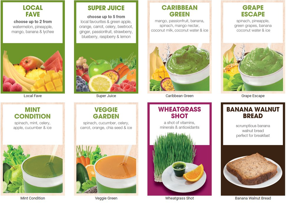 Boost Juice Bars' favourite choices