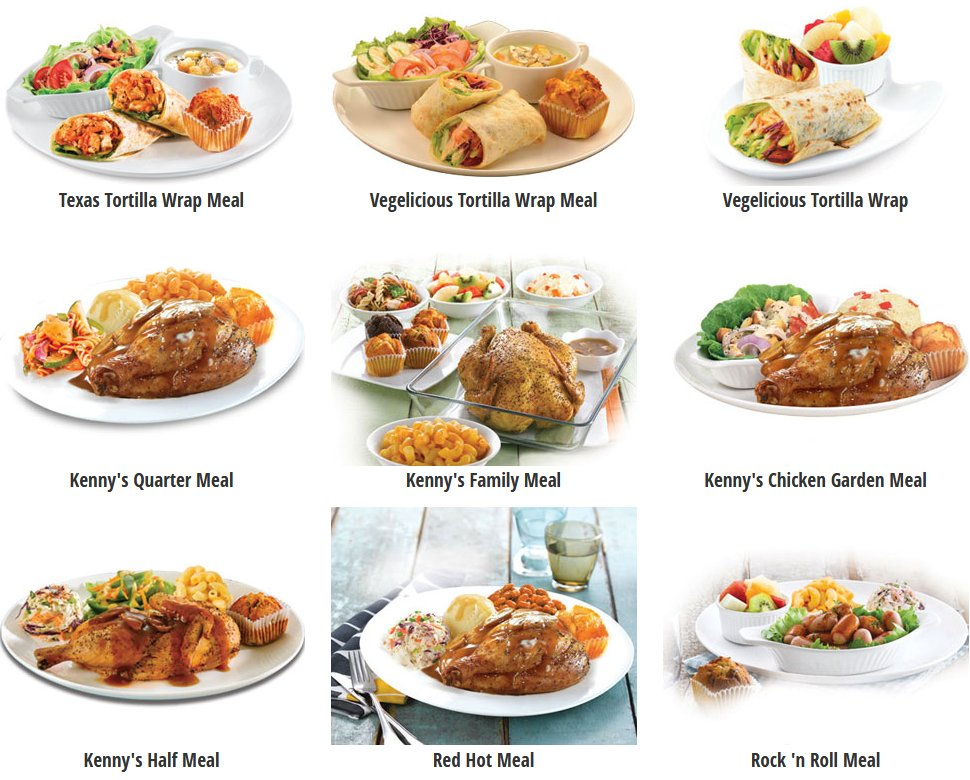 Kenny Rogers Roasters' favourites