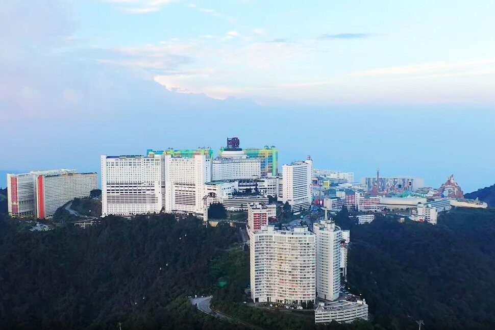 Aerial view of Genting Highlands, Sep 2019