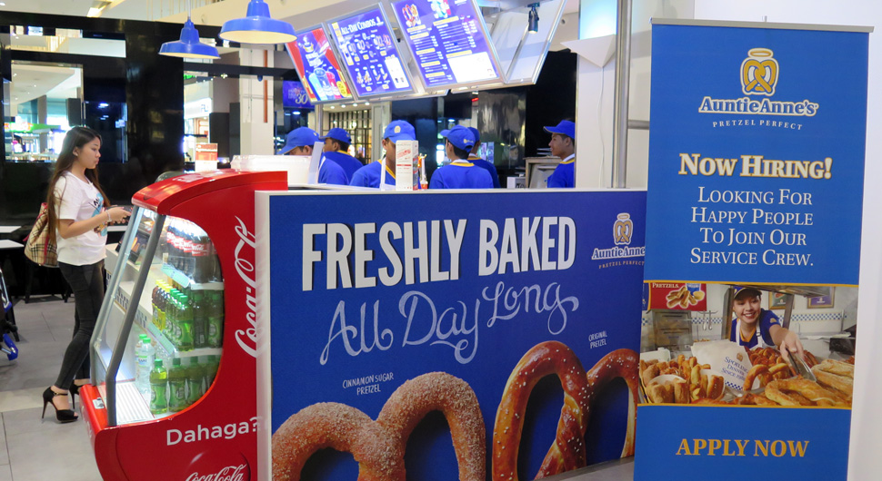 Auntie Anne's at the klia2