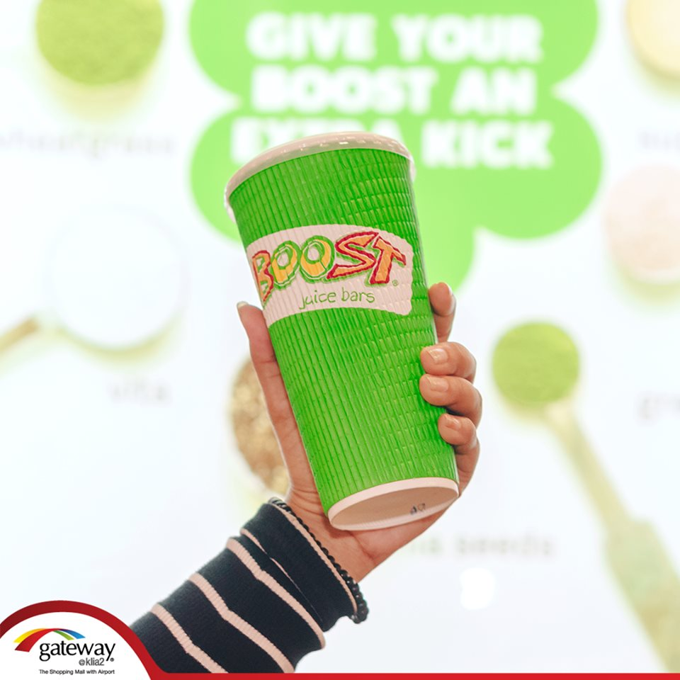 Travelling can be exhausting. Revitalise your energy with variety of delicious juices at Boost Juice!