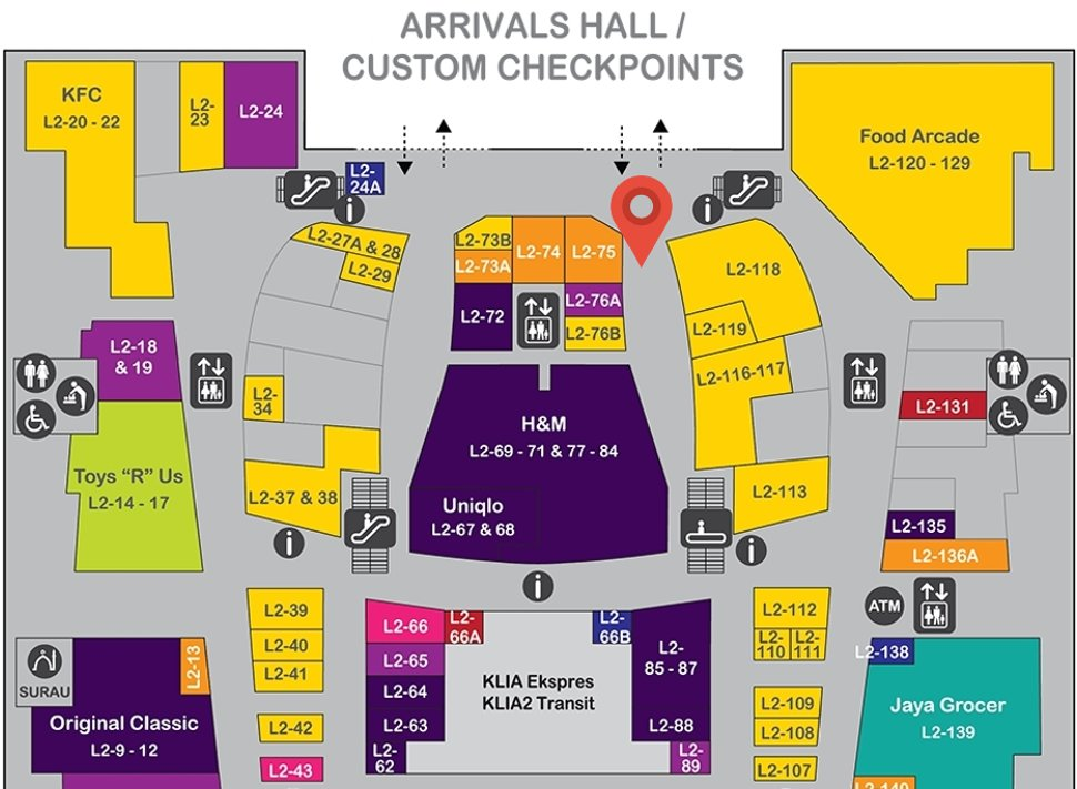 Location of Digi Store at level 2 of Gateway@klia2 mall