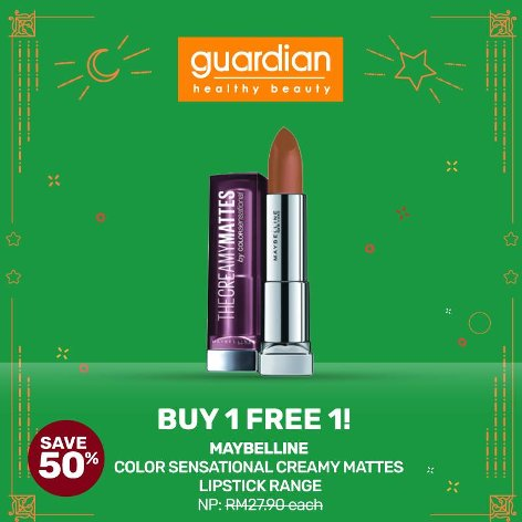 Maybelline Color Sensational Creamy Mattes Lipstick