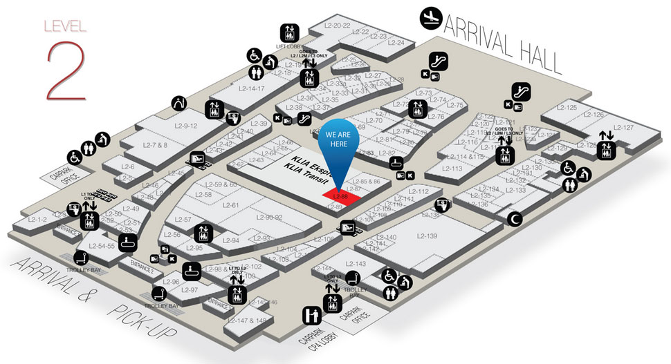 Location of Jelly Bunny at Gateway@klia2 mall