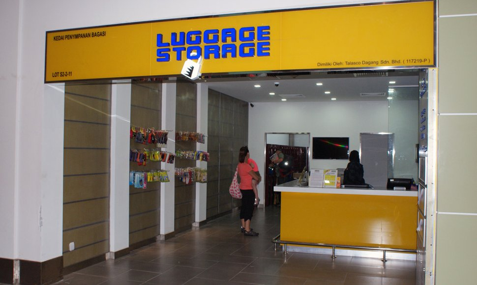 Luggage Storage facility next to Domestic Arrival area