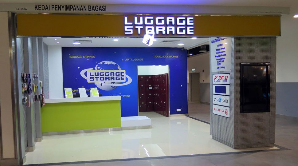 Luggage storage at unit L2-136A, Level 2, Gateway@klia2 Mall