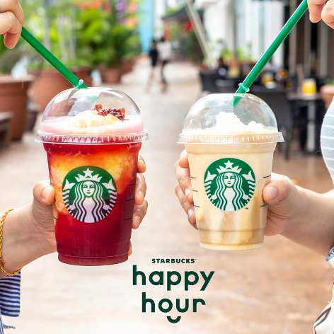 Come enjoy Happy Hours at Starbucks