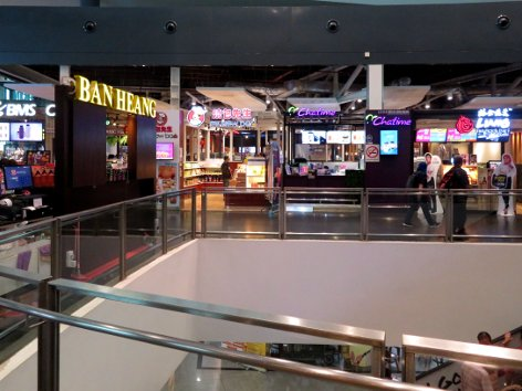 Retail outlets at level 3 of Gateway@klia2 mall