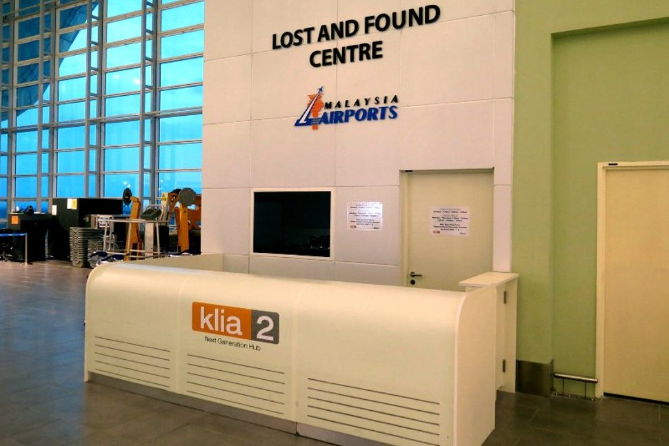 Lost and found center at klia2 Departure Hall