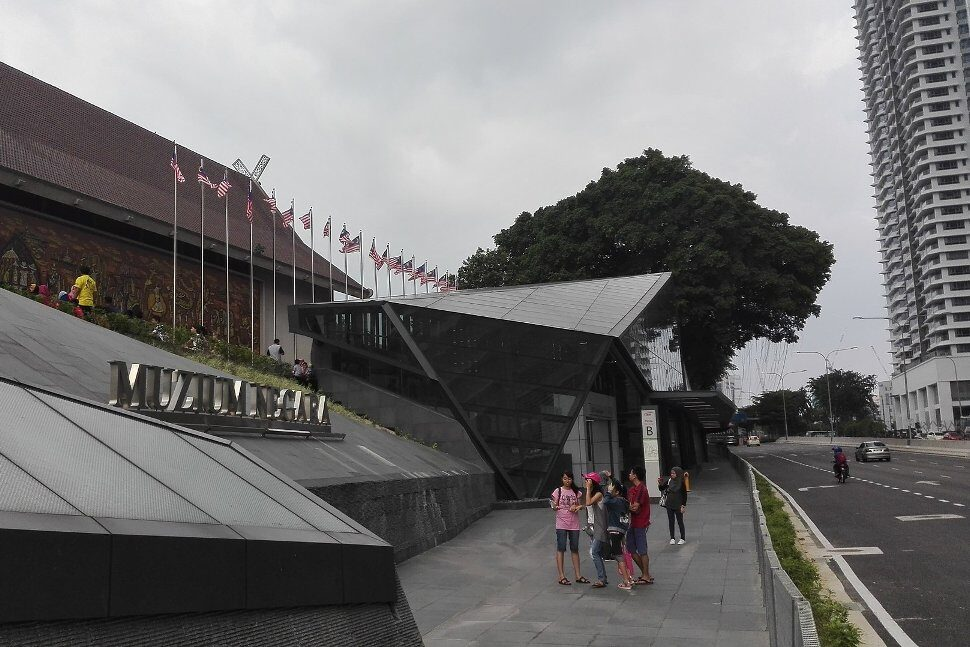 Entrance B of the station in front of the Muzium Negara
